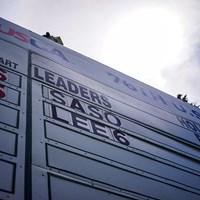 リーダーボードのてっぺんに名前が 2021年 全米女子オープン 3日目 笹生優花