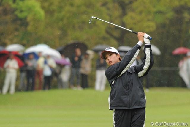 2010年 中京テレビ・ブリヂストンレディスオープン 最終日 森田理香子 リカコーはOB等で2回もダボを叩いて自滅。居並ぶ強豪にプレッシャーさえ与えられず