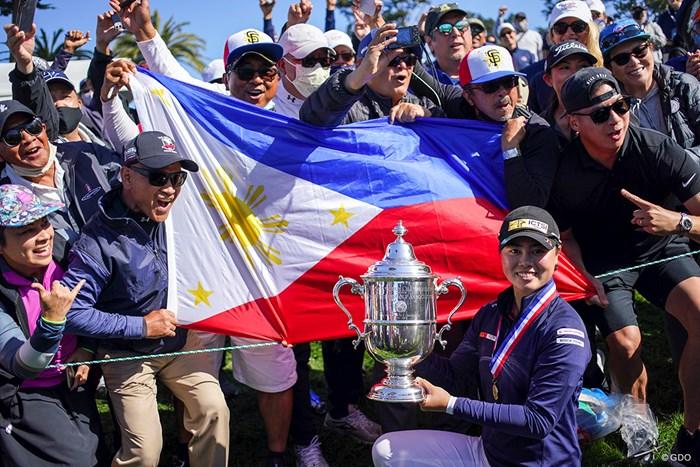 フィリピンの仲間たちも祝福 2021年 全米女子オープン 4日目 笹生優花