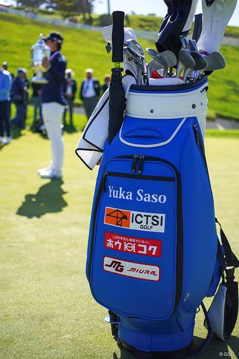 全米女子優勝者のゴルフバッグです 2021年 全米女子オープン 4日目 笹生優花