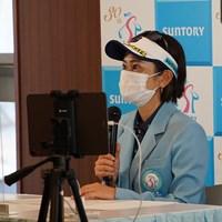 アマ時代から今大会の実績があり、飛躍した笹生優花に期待を寄せた宮里藍さん 2021年 宮里藍サントリーレディスオープンゴルフトーナメント 事前 宮里藍