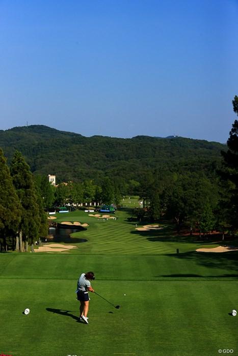 Hole18 par4 425yards tee shot 2021年 宮里藍サントリーレディスオープンゴルフトーナメント 初日 葭葉ルミ