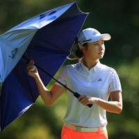 今日の日差しは危険 2021年 宮里藍サントリーレディスオープンゴルフトーナメント 初日 森田遥