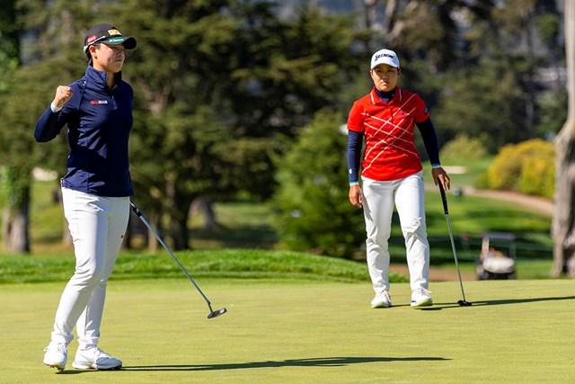 2021年 全米女子オープン 4日目 笹生優花 畑岡奈紗 日本人同士の対決となったプレーオフ(Kathryn Riley/USGA)