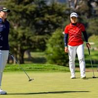日本人同士の対決となったプレーオフ(Kathryn Riley/USGA) 2021年 全米女子オープン 4日目 笹生優花 畑岡奈紗