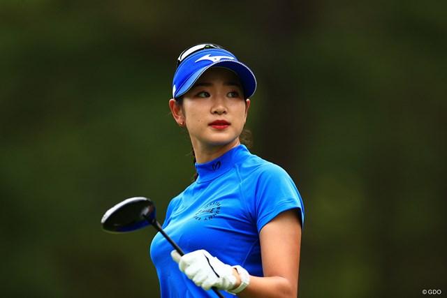 2021年 宮里藍サントリーレディスオープンゴルフトーナメント 2日目 原英莉花 ドライバーはソール部分を削って座りを良くしている