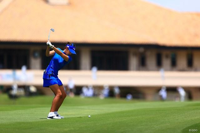 2021年 宮里藍サントリーレディスオープンゴルフトーナメント 2日目 原英莉花 調整を続けたクラブセッティングは固まりつつあるという