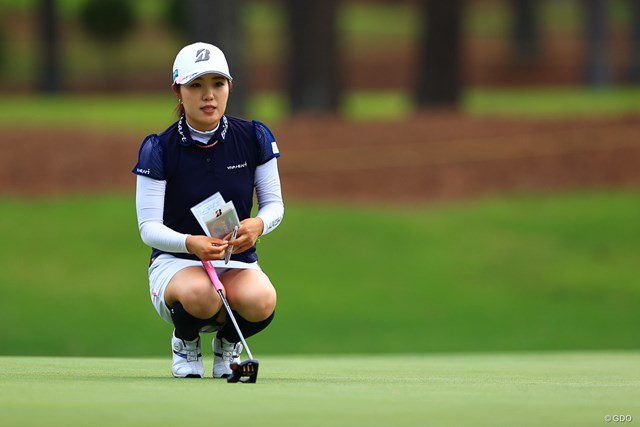 2021年 宮里藍サントリーレディスオープンゴルフトーナメント 2日目 古江彩佳 古江彩佳は首位と5打差の18位で決勝ラウンドに進んだ