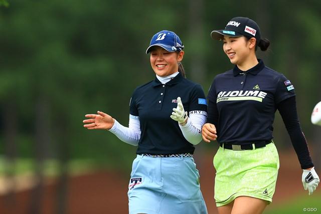 2021年 宮里藍サントリーレディスオープンゴルフトーナメント 3日目 小祝さくら 吉田優利 二人は仲が良さそうね