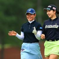 二人は仲が良さそうね 2021年 宮里藍サントリーレディスオープンゴルフトーナメント 3日目 小祝さくら 吉田優利