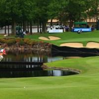 Hole18 par4 425yards second shot 2021年 宮里藍サントリーレディスオープンゴルフトーナメント 3日目 山下美夢有