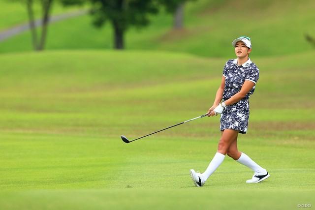 2021年 宮里藍サントリーレディスオープンゴルフトーナメント 3日目 原英莉花 Hole4 par5 425yards second shot