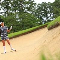 Hole4 par5  525yards bunker shot 2021年 宮里藍サントリーレディスオープンゴルフトーナメント 3日目 原英莉花