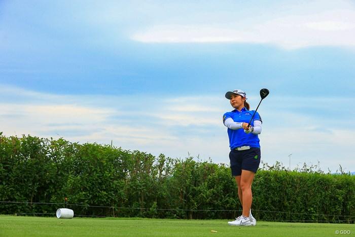 Hole14 par4 407yards tee shot 2021年 宮里藍サントリーレディスオープンゴルフトーナメント 3日目 比嘉真美子