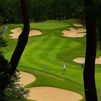 Hole8 par4 366yards second shot 2021年 宮里藍サントリーレディスオープンゴルフトーナメント 3日目 古江彩佳