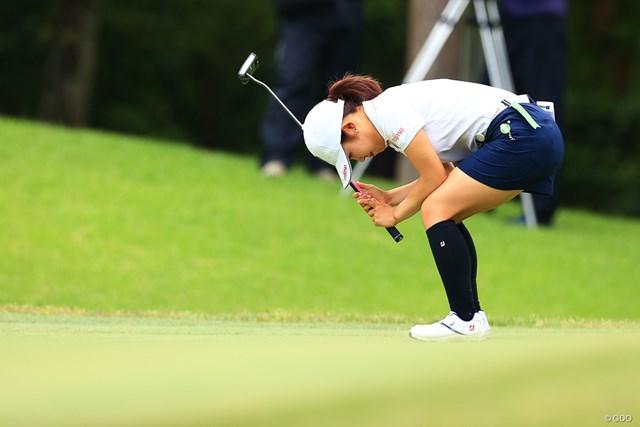 2021年 宮里藍サントリーレディスオープンゴルフトーナメント 最終日 古江彩佳 珍しく悔しさが滲み出たパットのシーン
