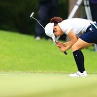 珍しく悔しさが滲み出たパットのシーン 2021年 宮里藍サントリーレディスオープンゴルフトーナメント 最終日 古江彩佳