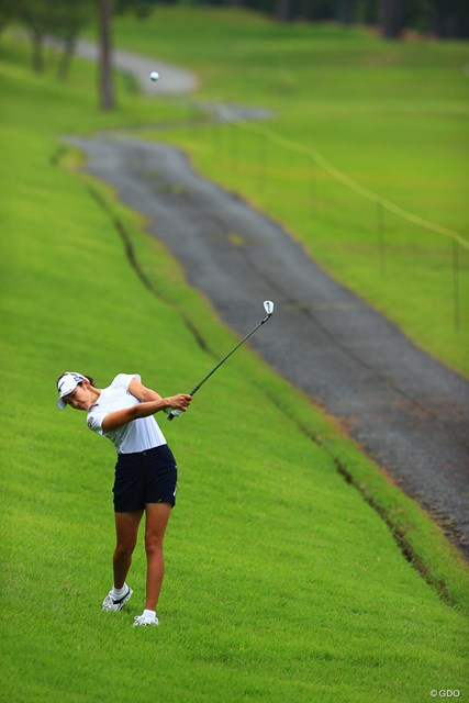 2021年 宮里藍サントリーレディスオープンゴルフトーナメント  最終日 原英莉花 Hole5 par4 385yards second shot