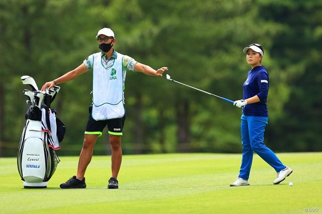 2021年 宮里藍サントリーレディスオープンゴルフトーナメント  最終日 青木瀬令奈 コーチ兼キャディを務める大西翔太氏と二人三脚でつかんだ勝利