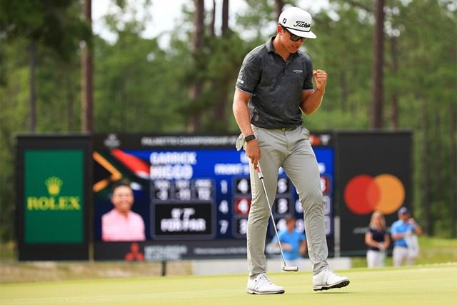 2021年 パルメット選手権  最終日 ガリック・ヒーゴ PGAツアー2試合目で初優勝を果たしたヒーゴ(Mike Ehrmann/Getty Images)