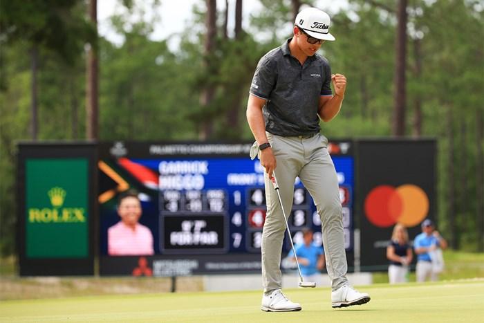 PGAツアー2試合目で初優勝を果たしたヒーゴ(Mike Ehrmann/Getty Images) 2021年 パルメット選手権  最終日 ガリック・ヒーゴ