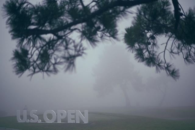 2021年 全米オープン 初日 濃霧 濃霧のため初日の開始は遅れた(Kohjiro Kinno/USGA)