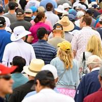 多くのギャラリーが詰めかけた(Robert Beck/USGA) 2021年 全米オープン 2日目 ギャラリー