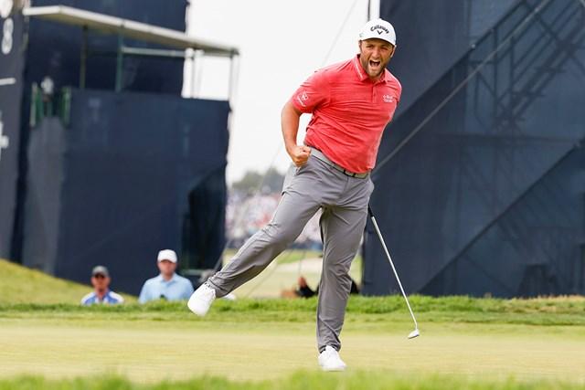 2021年 全米オープン 最終日 ジョン・ラーム ジョン・ラームがスペイン勢初の全米オープンタイトルを勝ち取った(Jeff Haynes/USGA)