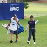 自身初のプロアマ戦を行った笹生優花 2021年 KPMG全米女子プロゴルフ選手権 事前 笹生優花