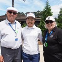 25年前、沖縄の嘉手納基地で知り合ったゴルフプロ夫婦と再会 2021年 KPMG全米女子プロゴルフ選手権 事前 上原彩子