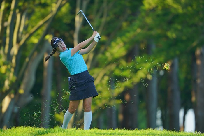 日本のゴルフ場とは思えない景色。 2021年 アース・モンダミンカップ 初日 林菜乃子