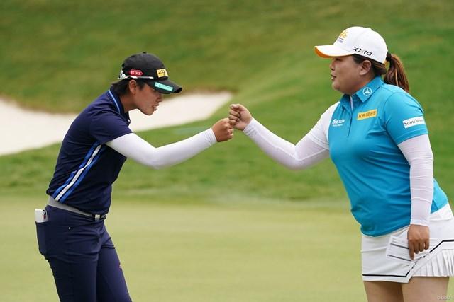 2021年 KPMG全米女子プロゴルフ選手権 初日 笹生優花 朴仁妃 笹生優花は朴仁妃とプレーをともにした