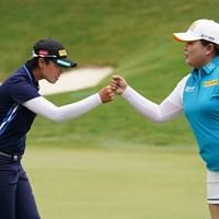 笹生優花は朴仁妃とプレーをともにした 2021年 KPMG全米女子プロゴルフ選手権 初日 笹生優花 朴仁妃