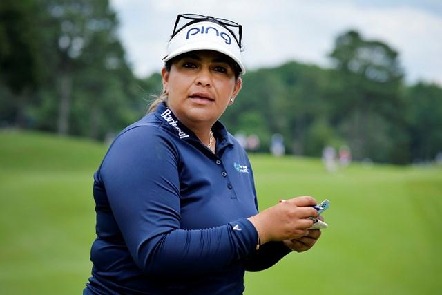 2021年 KPMG全米女子プロゴルフ選手権 初日 リゼット・サラス 首位で発進したリゼット・サラス(Edward M. Pio Roda/Getty Images)
