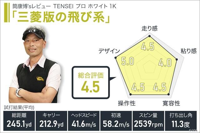 TENSEI プロ ホワイト 1Kを筒康博が試打「三菱版の飛び系」