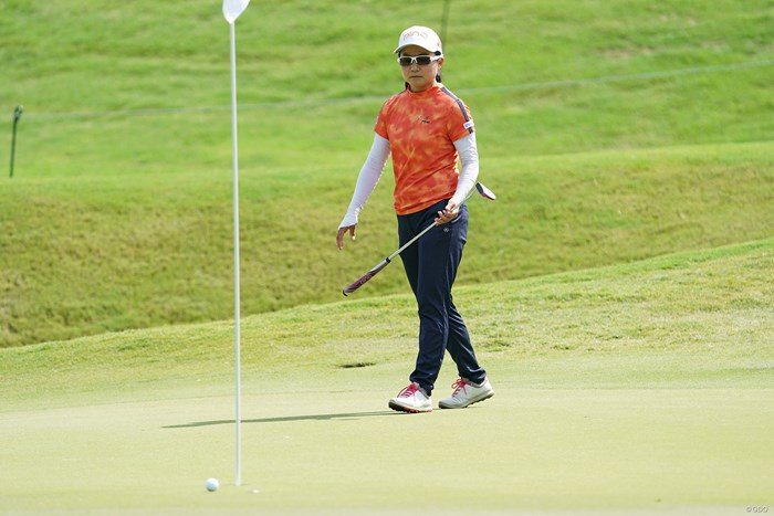 8オーバーで予選ラウンドを終えた上原彩子 2021年 KPMG全米女子プロゴルフ選手権 2日目 上原彩子