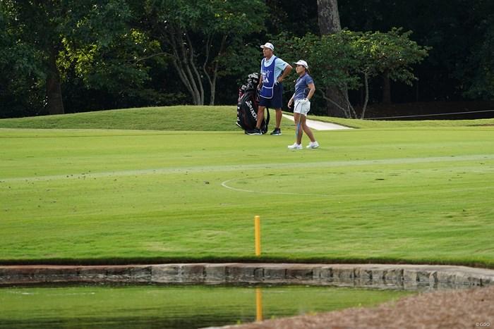 6番ホールの2打目を放つ 2021年 KPMG全米女子プロゴルフ選手権 2日目 畑岡奈紗