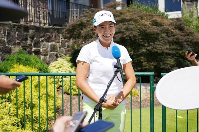 2021年 KPMG全米女子プロゴルフ選手権 4日目 渋野日向子 最終日は笑顔でインタビュー