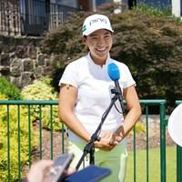 最終日は笑顔でインタビュー 2021年 KPMG全米女子プロゴルフ選手権 4日目 渋野日向子