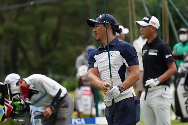 2021年 日本プロゴルフ選手権大会  事前 石川遼 石川遼は午後に星野陸也と練習ラウンドを行った
