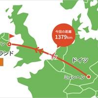 ミュンヘンからダブリンに到着。久々に飛行機に乗りました 2021年 ドバイデューティーフリー アイルランドオープン 事前 川村昌弘マップ