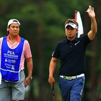 塚田先生のボケについていけないキャディさん 2021年 日本プロゴルフ選手権大会 初日 塚田陽亮