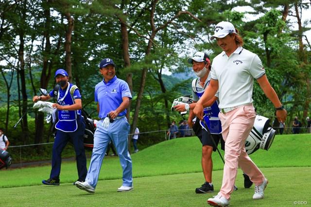 2021年 日本プロゴルフ選手権大会 初日 石川遼 倉本会長と楽しくラウンド