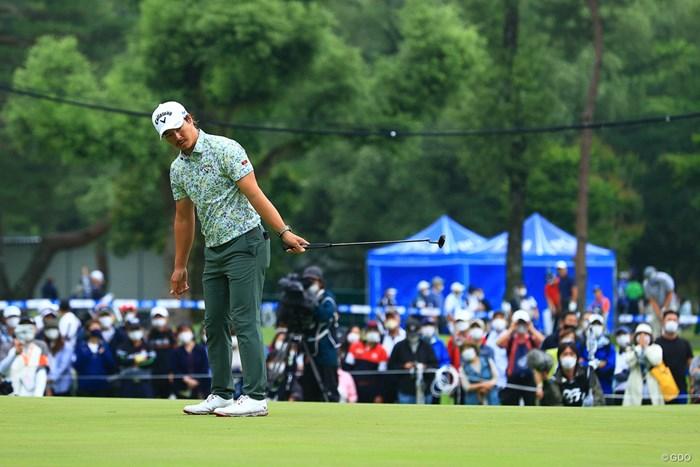 今大会でピン型のパターを握っている石川遼 2021年 日本プロゴルフ選手権大会 2日目 石川遼