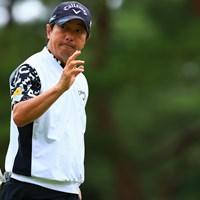 最終ホールでパーパットをねじ込み、予選を通過した深堀圭一郎 2021年 日本プロゴルフ選手権大会 2日目 深堀圭一郎