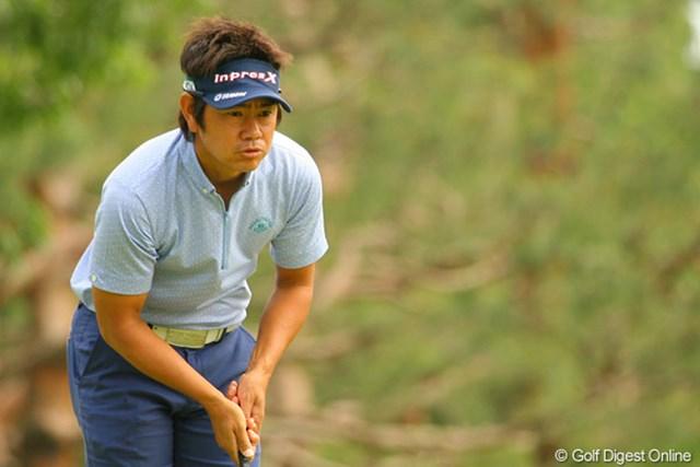 2010年 ダイヤモンドカップゴルフ 初日 藤田寛之 今季好調の藤田寛之だが、この日は3連続ボギーを叩くなど1オーバー69位タイと出遅れ