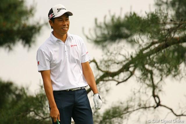 2010年 ダイヤモンドカップゴルフ 初日 兼本貴司 大会連覇を狙う兼本貴司は、石川遼、青木功とのラウンドでイーブンパーの52位タイと静かなゴルフとなった