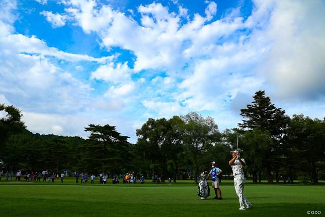 2021年 日本プロゴルフ選手権大会 3日目 石川遼 久々の青空