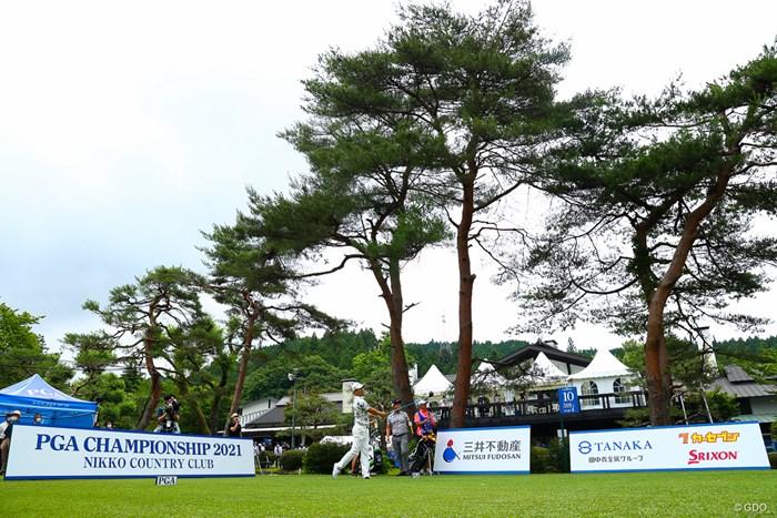 hole10 par4 518yards tee shot 2021年 日本プロゴルフ選手権大会 3日目 石川遼