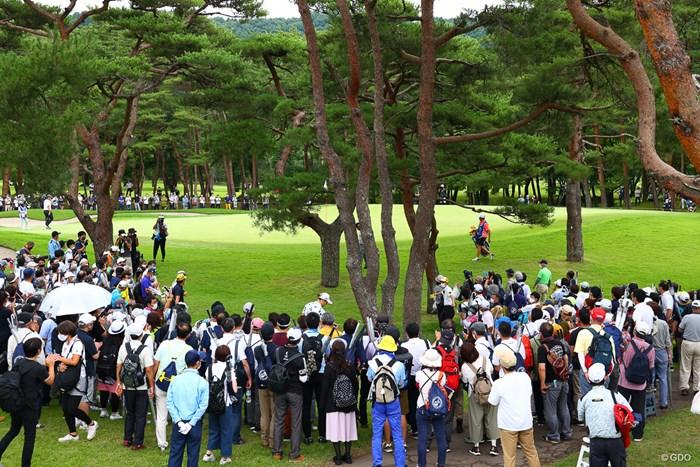 hole8 par3 210yards approach shot 2021年 日本プロゴルフ選手権大会 3日目 石川遼